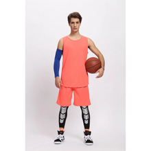 Men's Set sports shirt training Sleeveless basketball jersey suit Wear Reversible Basketball Clothes Suit Training Shirt+shorts
