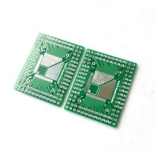 20pcs/lot FQFP TQFP 32 44 64 80 100 LQF SMD turn dip 0.5/0.8 mm adapter plate & Free Shipping