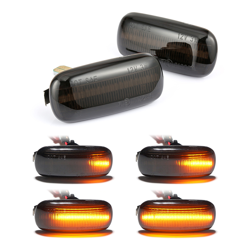 Dynamic Flowing LED Side Marker signal Light For Audi A3 S3 8P A4 S4 RS4 B6 B7 B8 A6 S6 RS6 C5 C7