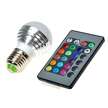 E27 RGB Magic Light Bulb Lamp Christmas Lighting Spotlight with IR Remote Control Changeable Lamp Spot Blubs Stage Night Lights