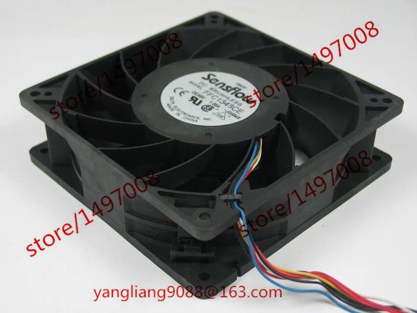 Delta FFC1348CE JS684X DC 48V 1.05A 7-wire 127X127X38mm  Server Square  Fan<br>
