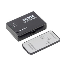 5 Ports 1080P Video HDMI Switch Switcher Splitter Hub Supports 3D for HDTV PS3 DVD/IR Remote Controller/IR Receiver Cable