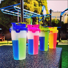Buy Bike Cycling Water Bottle Sports Cup Outdoor Sports Water Bottles Portable Multifunction Fitness Leisure Double Partition Bottle for $16.80 in AliExpress store