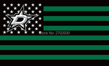 Dallas Stars Hockey Sports Team Star & Stripe US National Flag 3ft X 5ft Custom Banner With Sleeve Two Gromets 90*150CM(China)