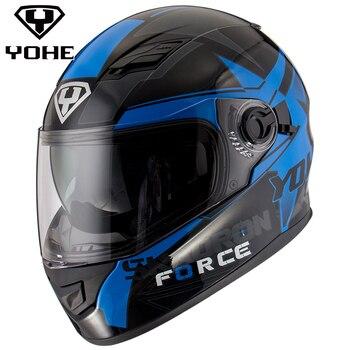 Yohe Casque NOUVELLE meilleure sécurité casques de moto double objectif visières plein visage motocross casques chaud coupe-vent sable étanche à la poussière