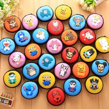 Silicone SD Hold Case Round Cartoon Storage Carrying Hard Bag Box for Earphone Headphone Earbuds Memory Card USB Cable Organizer(China)