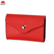 Buy Vbiger Secured RFID Blocking Purse Genuine Leather Credit Card Holder Multi-functional Credit Card Protector Wallet Unisex for $7.25 in AliExpress store