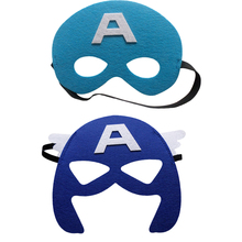 1pc Captain America Mask Batman Super Hero Iron Man Marvel's The Avengers Kid Birthday Gift Costume Cosplay Party Decor Supplies(China)