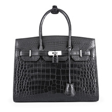 TERSE_2017 New Arrival Handmade Leather Bag Ladies Fashion Shopping Party HandBag Luxury Crocodile Women Tote bags OEM\ODM