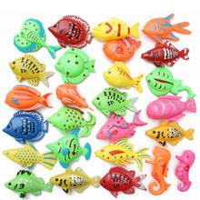 5pcs/lot Learning & education magnetic fishing toy comes outdoor fun & sports fish toy gift for baby/kid GYH