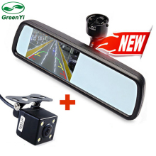 "New 4.3"" TFT-LCD Special Rearview Mirror Car Monitor with Bracket + Auto CCD Rear View Camera, Car Parking Monitors Assistance"