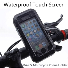 Outdoor Motorcycle Bicycle Bike Mobile Phone Holder Stand Support for iPhone 7 6 6s Plus 5 5s GPS Waterproof Touch Screen Case