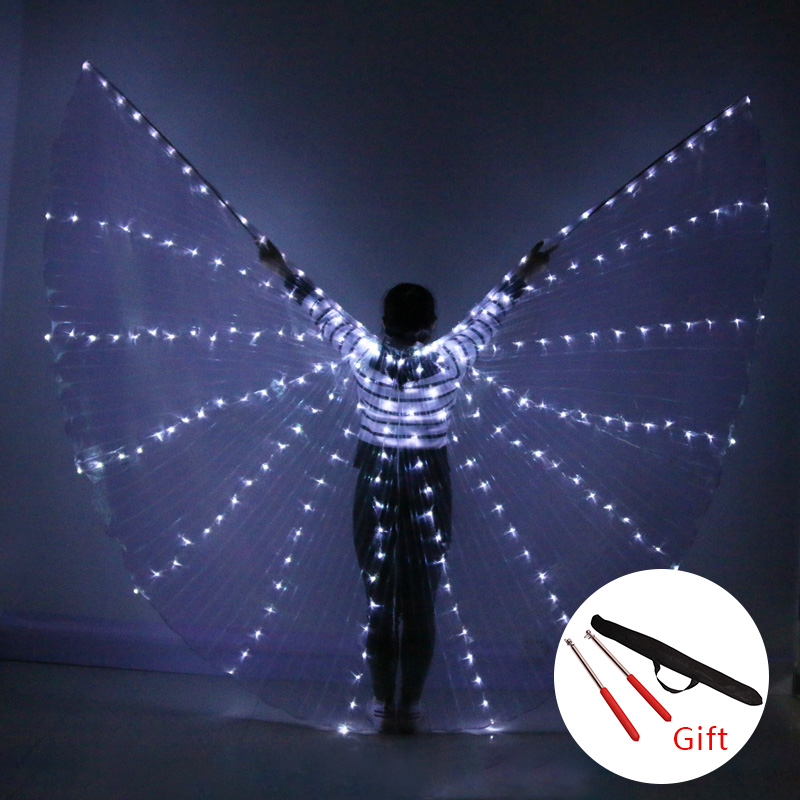 LED Wings Belly Dance Colorful Popular Stage Performance Props Belly Dancing Wings Props  Belly Dancing Accessory With Stick