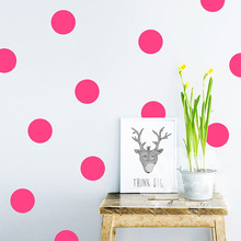 Removable DIY Vinilos Infantiles Kids Rooms Decoration Art Circle Dots Wall Sticker Quotes Wall Decor Sticker Mural(China)