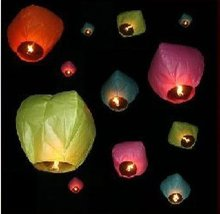 wholesale 100 pieces NEW FIRE SKY CHINESE LANTERNS BIRTHDAY WEDDING PARTY(China)