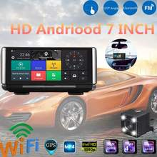 "KROAK 7"" HD 1080P Android 5.0 Bluetooth Car DVR Camera Driving Recorder WIFI GPS Navigator with Dual Lens(China)"