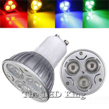 Ultra Bright dimmable 9w 12W 15w GU10 LED Bulbs Spotlight High Power gu 10 led Lamp Warm /red/green/blue / Cool Free Shipping