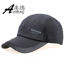 Vancol 5 Color Quick Dry Camping Casquette Chapeau Baseball Breathable Adjustable Black Mesh Man Cap Summer