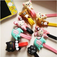2016 New Nice High Quality Convenient Animal Cartoon Earphone Winder Cable Cord Organizer Holder for Phone