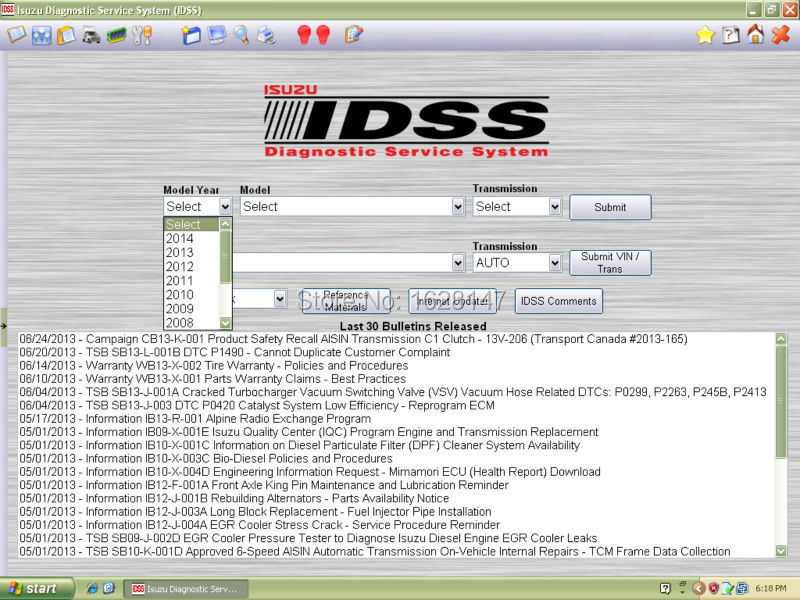 For Isuzu IDSS 2015 - Isuzu Diagnostic Service System [ dont need license]<br><br>Aliexpress