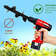 5*22cm New Garden Planter Spiral Drill Bit Flower Bulb Hex Shaft Auger Yard Gardening Bedding Planting Post Hole Digger Tools(China)