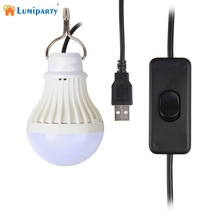 LumiParty Tent Night LED Bulb Portable Outdoor Camp 5V 5W LED Light for Camping Fishing Hanging Light lamparas(China)