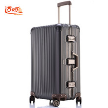 db67a8bade12 100% fully Aluminum-magnesium alloy travel suitcase 20 25 inch ladies luggage  suitcase