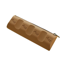 1PCS Chocolate Pencil Cases Silica gel Personality Kid School Case Pencil Case Stationery,4COLOR(China)