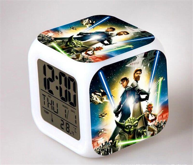 LED Alarm Clock Despertador Digital Star War Vader Figures infantile Stromtrooper Reloj Reveil Character Boy Girl Gift SA603<br><br>Aliexpress