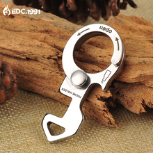 EDC.1991 420 Stainless Steel Carabiner Bottle Opener Keychain EDC Gear Outdoor Hiking Hunting Camping Survival Emergency Tool(China)