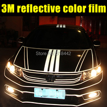 1.5CMX6M 3m Reflective vinyl film for car wheel and body decoration by free shipping