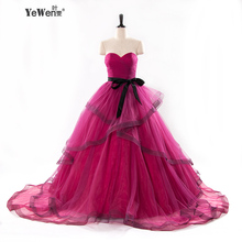 sexy plus size burgundy evening dress long prom dresses 2017 homecoming dresses sweet 16 dresses cheap quinceanera gowns(China)