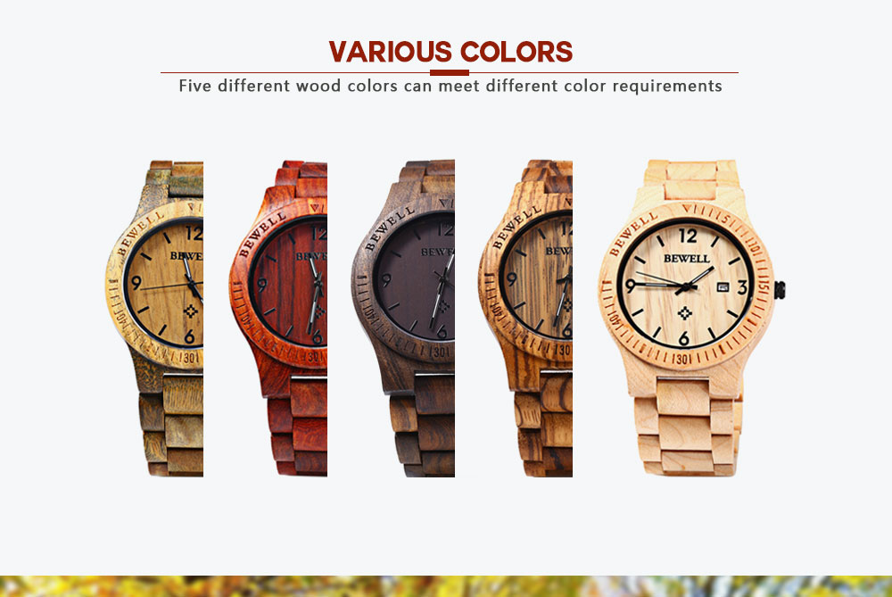 2017 BigBen Bewell Luxury Brand Wood Watch Men Analog Natural Quartz Movement Date Male Wristwatches Clock Relogio Masculino (6)