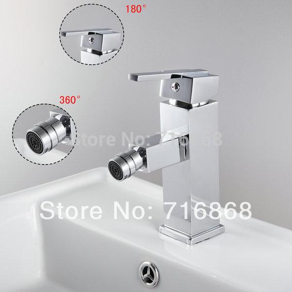 DS-8463 Hot Sell Square Single Lever Brass Bathroom Sink Bathtub Basin Bidet Faucet<br><br>Aliexpress