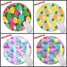 Pineapple Special Pattern DIY Custom Design Made Durable Gaming Anti-slip Silicone  Round Gaming Mouse Pad Computer Mouse Mat