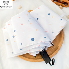 2017 Vgolsun Man&Woman New Fashion Simple Style Rainbow Polka Colorful Dots Print 3 Foldings Manual Open Umbrella