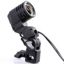 Photo Video Light Lamp Bulb Holder E27 Socket Slave Flash Swivel Bracket Studio for LED GODOX Strobe S45 S45T SY3000 SY8000