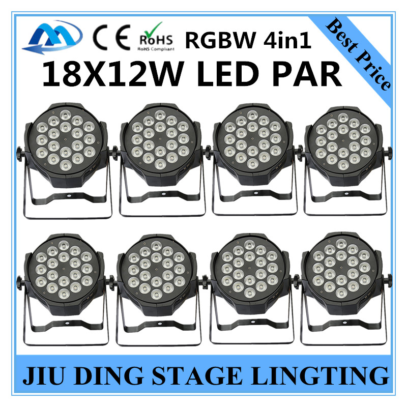 8pcs / RGBW 4in1 18X12W LED PAR Lights dmx512 disco lights, par led stage professional dj equipment<br><br>Aliexpress
