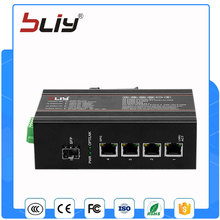 1GX4GT Hot 5 port gigabit media converter 1 fiber sfp switch with best price(China)