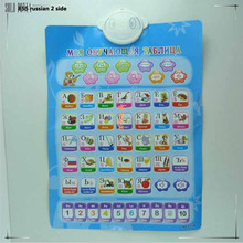 Russian English French Portuguese ABC electronic baby alphabet early learning educational machine wall phonetic chart study toy