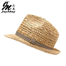 JOYMAY New Design Fashion High quality Handmade Straw Hat Parent child cap Jazz Formal TreeHat Summer Sun Hat Beach HATS C004(China)