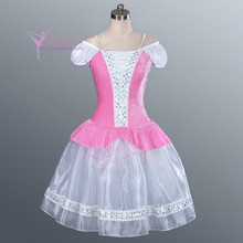 Child Adult Pink Giselle Romantic Tutu Fairy Ballerina Long Dress Professional Classical Ballet Costume Girls