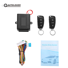 Universal DC 12V Smart Car Door Lock Unlock Keyless Entry System Remote Control 80M Remote Range Auto Central Lock(China)