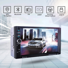 "7021G Car MP4 MP5 Player With GPS function 7"" HD 2 Din Touch Screen Bluetooth Steering Wheel Control Support TF USB AUX FM Radio(China)"