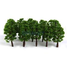 New Arrivals 2015 Plastic Model Tress Train Railroad Scenery 1:150 20pcs Deep Green Free Shipping