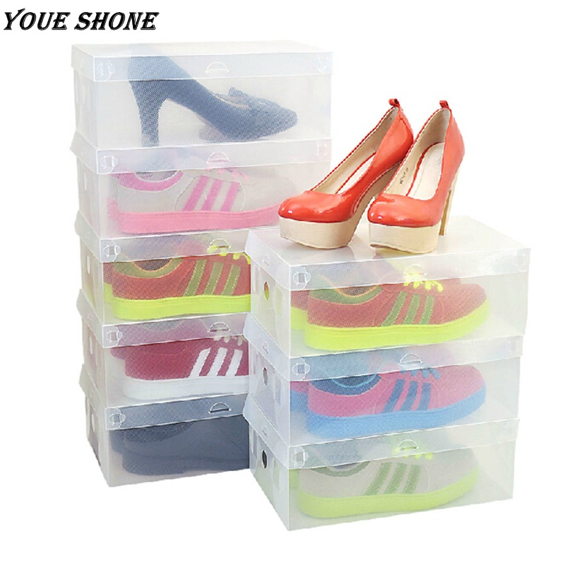 Shoes Box Transparent Clear Plastic Storage Box Packaging Organizer For Shoes Good Wear Drawer(China (Mainland))