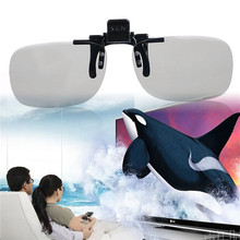 1PC Clip VR 3D Polarized Glasses On type Passive Circular 0.4mm 3D Glasses For 3D TV Movie/Cinema