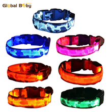 New Arrival Hot Fashion Safety Night Light  Nylon LED Collar Small Medium Pet Dogs LED Collar