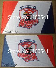 Sydney Roosters Flag 3ft x 5ft National Rugby League NRL Banner Size 4 144* 96cm Flag(China)