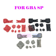 Red Black Grey Plastic Full Button Set For GBA SP A B Select Start Power On Off  L R Buttons D Pad